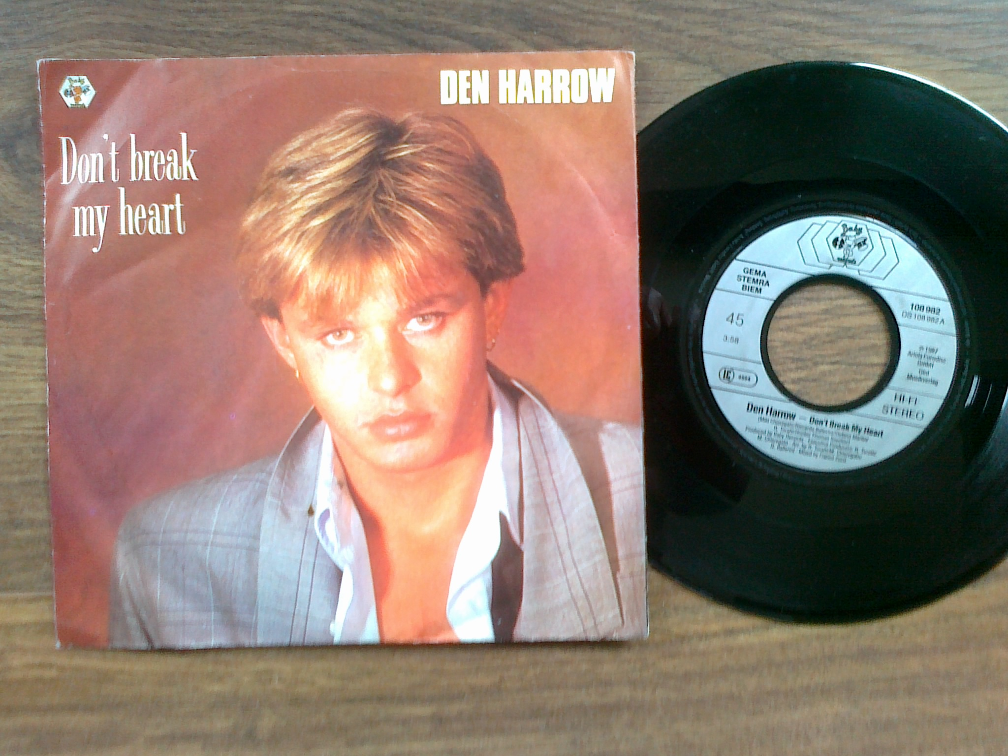 Den Harrow - Don't break my heart 7'single