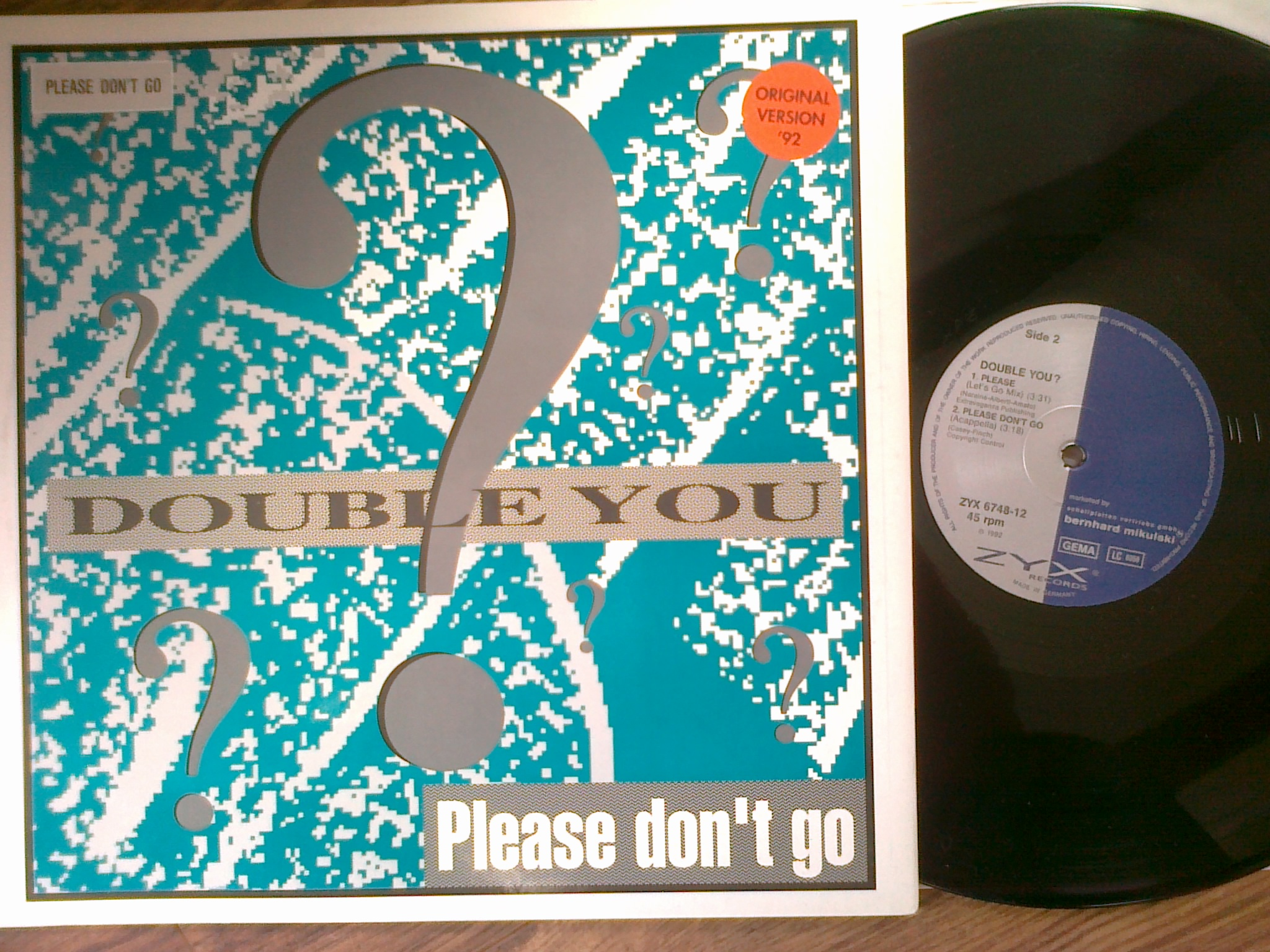 Double You ‎- Please Don't Go