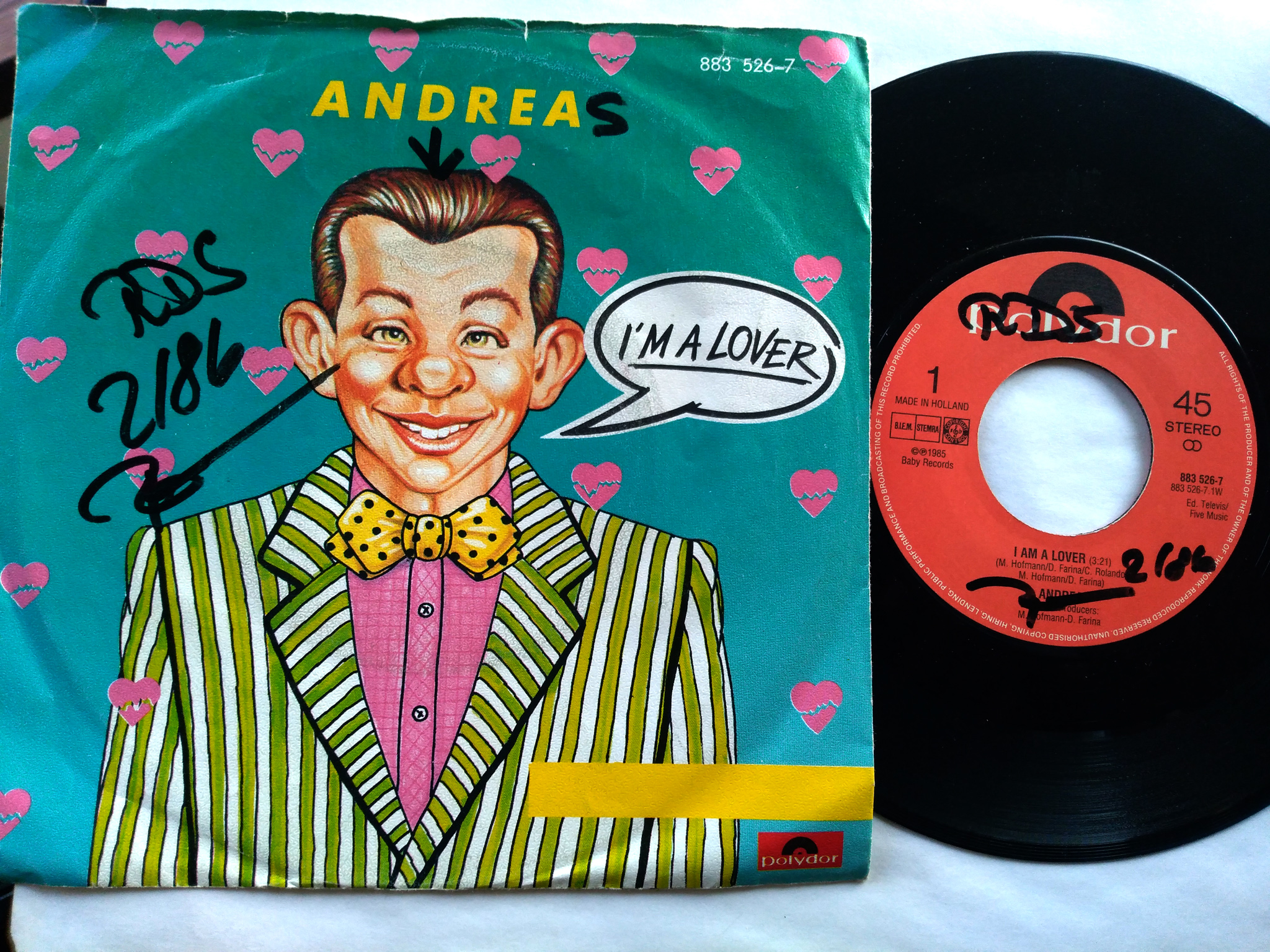 Andrea - I'm A Lover 7'