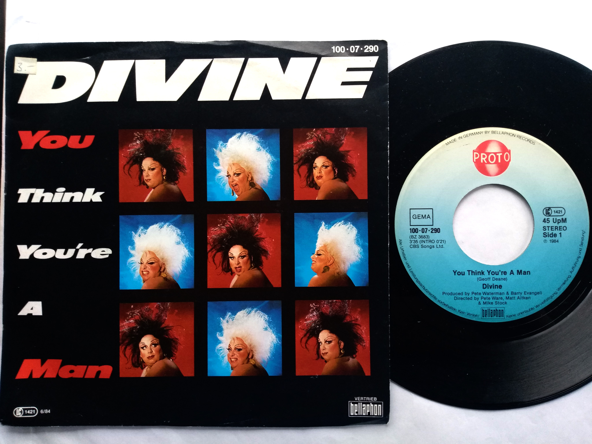 Divine - You Think You're A Man 7'