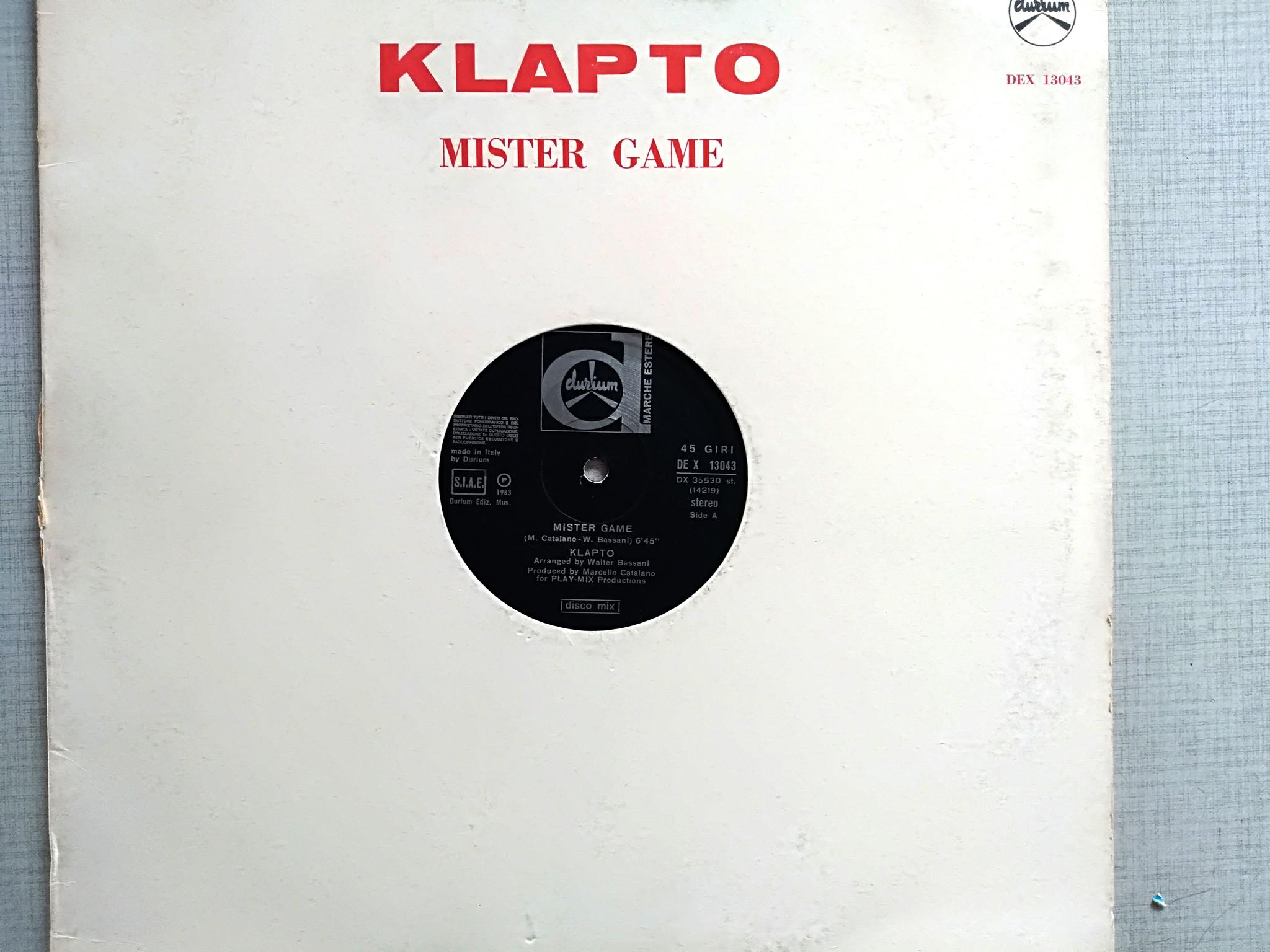 Klapto - Mister Game