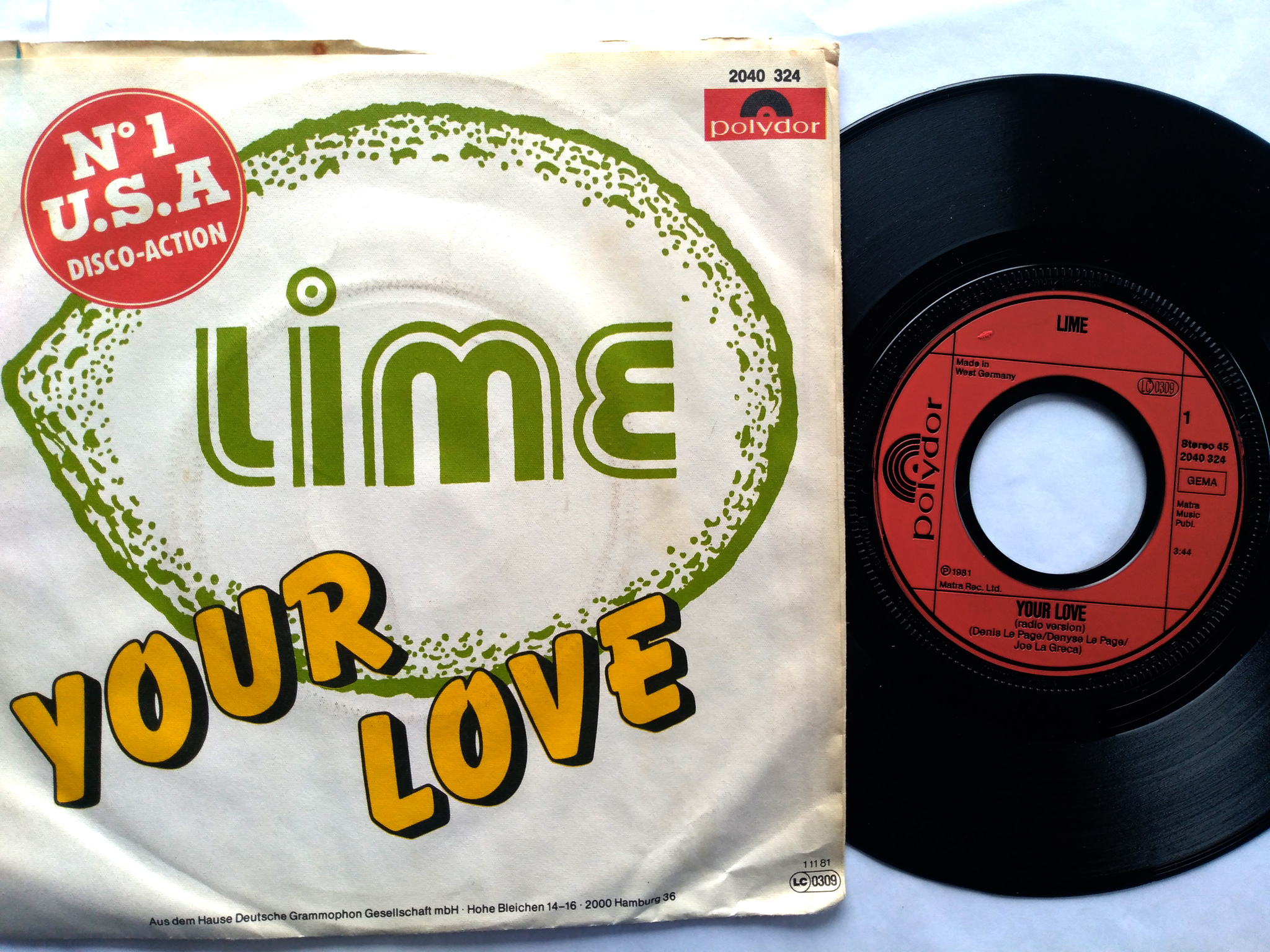 Lime - Your Love 7'