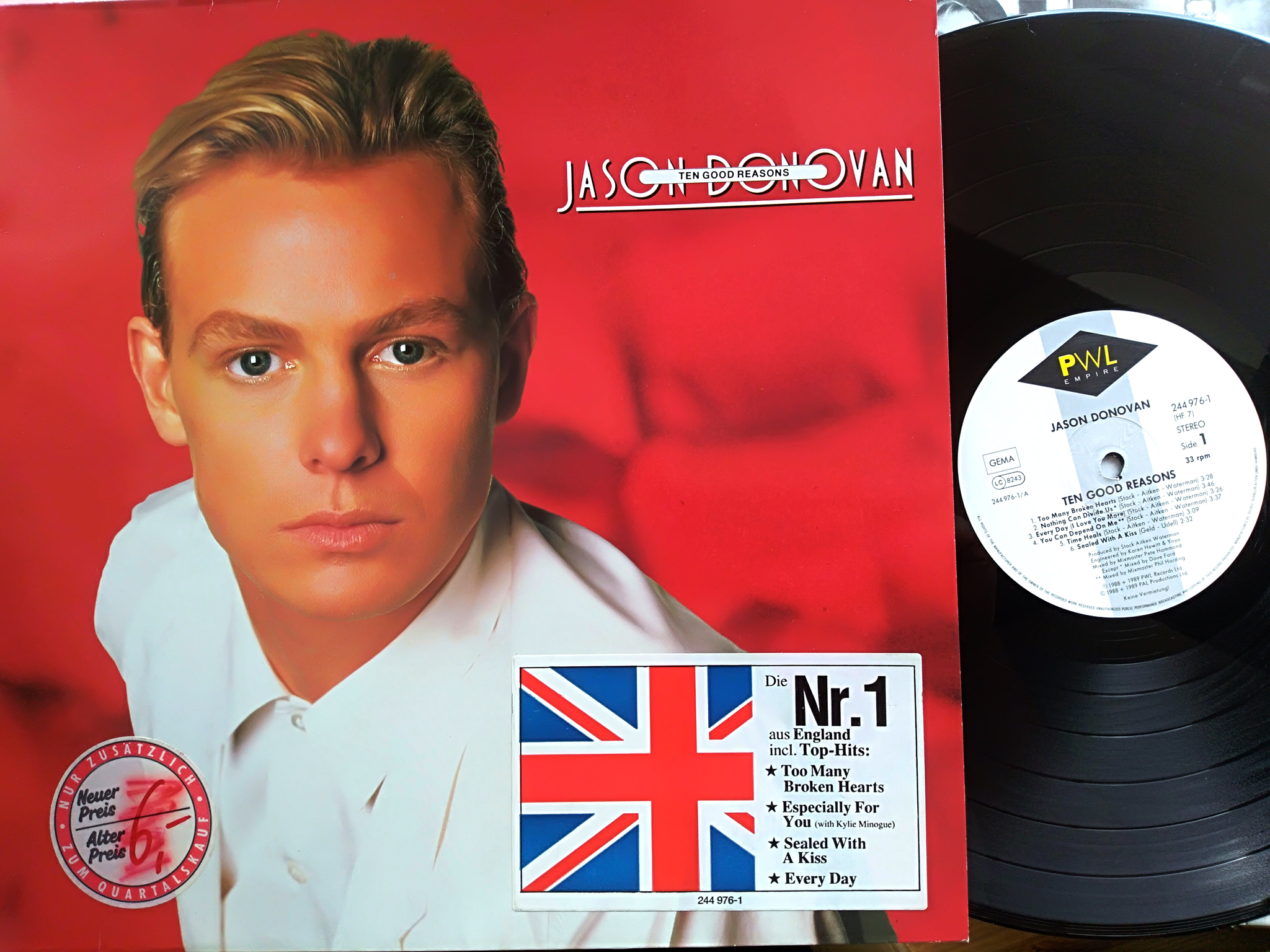 Jason Donovan - The Good Reasons LP